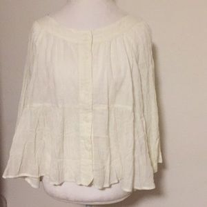 Free People NWT Beige Top